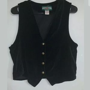Vntg American Eagle Outfitters Black Vest Size S